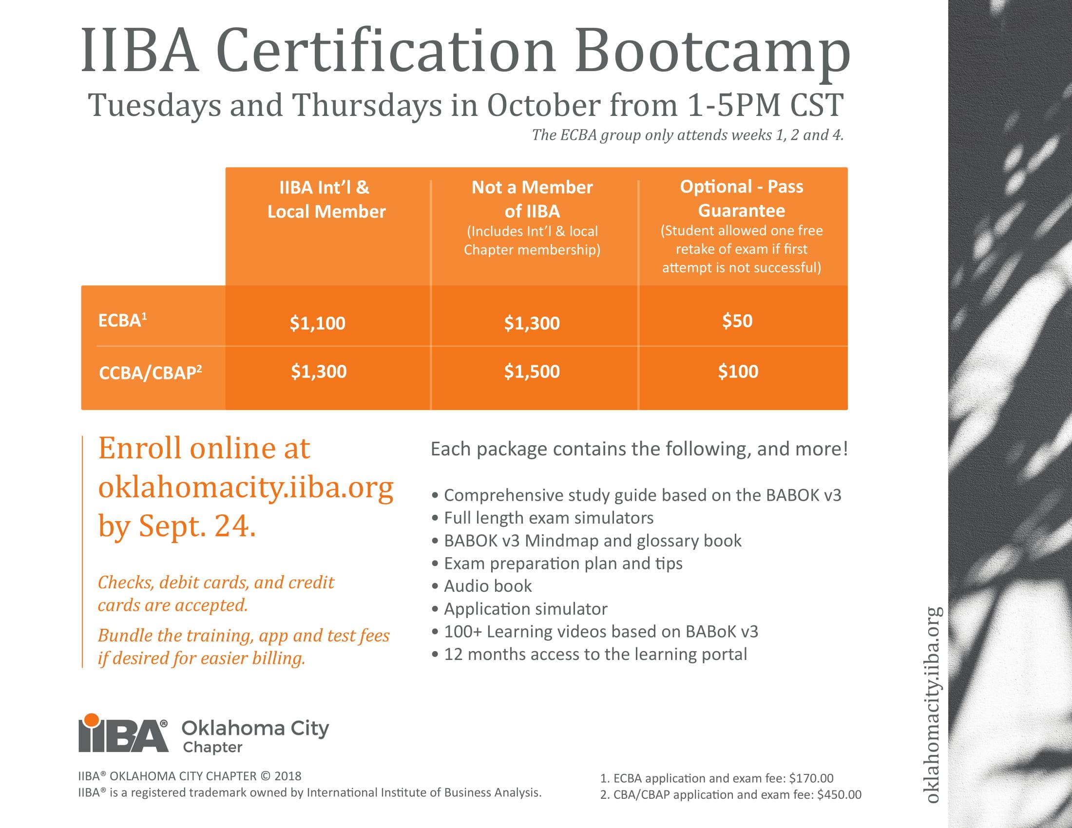 certification iiba camp boot fall bootcamp okc m44 bmw synopsis oklahomacity