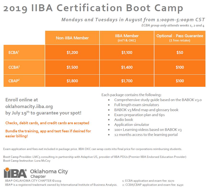 iiba camp boot certification register summer synopsis oklahomacity